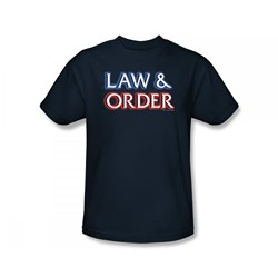 Law & Order - L & O Logo Slim Fit Adult T-Shirt In Navy