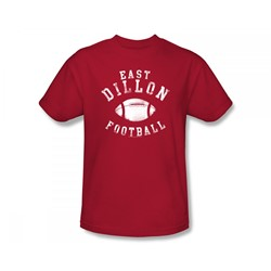 Friday Night Lights - East Dillon Football Slim Fit Adult T-Shirt In Red