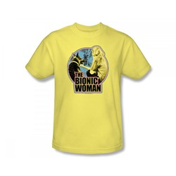 The Bionic Woman - Jamie And Maximilian Slim Fit Adult T-Shirt In Banana