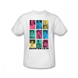 Quantum Leap - Faces Of Sam Slim Fit Adult T-Shirt In White