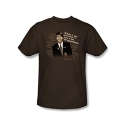 30 Rock - Lot Of Questions Slim Fit Adult T-Shirt In Coffee