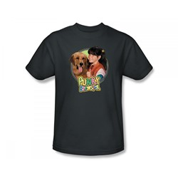 Punky Brewster - Punky & Brandon Slim Fit Adult T-Shirt In Charcoal