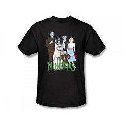 The Munsters - The Family Slim Fit Adult T-Shirt In Black