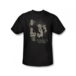 The Munsters - American Gothic Slim Fit Adult T-Shirt In Black