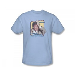 Columbo - Inconspicuous Slim Fit Adult T-Shirt In Light Blue