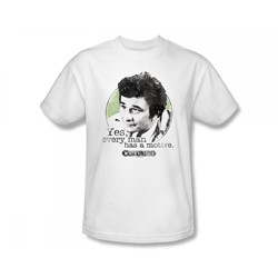 Columbo - Motive Slim Fit Adult T-Shirt In White