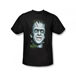 The Munsters - Herman's Head Slim Fit Adult T-Shirt In Black