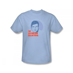 The Six Million Dollar Man - I See You Slim Fit Adult T-Shirt In Light Blue
