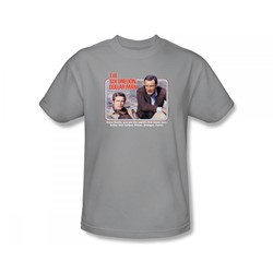 The Six Million Dollar Man - The First Slim Fit Adult T-Shirt In Silver