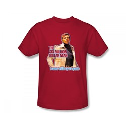 The Six Million Dollar Man - Spare Parts Slim Fit Adult T-Shirt In Red