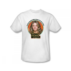 The Bionic Woman - Under My Skin Slim Fit Adult T-Shirt In White