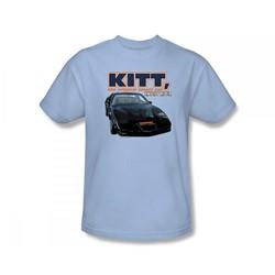 Knight Rider - Original Smart Car Slim Fit Adult T-Shirt In Light Blue