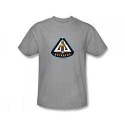 Eureka - Astraeus Mission Patch Slim Fit Adult T-Shirt In Silver