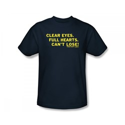 Friday Night Lights - Clear Eyes Slim Fit Adult T-Shirt In Navy