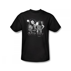 Bettie Page - Center Of Attention Slim Fit Adult T-Shirt In Black