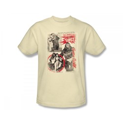 Bettie Page - Beauty & The Beast Slim Fit Adult T-Shirt In Cream