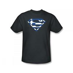 Superman - Greek Shield Adult T-Shirt In Navy