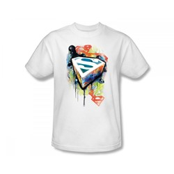 Superman - Urban Shields Adult T-Shirt In White