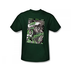 Superman - The Man From Krypton Adult T-Shirt In Hunter Green