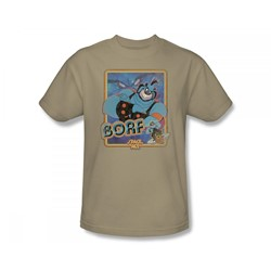 Space Ace - Borf Adult T-Shirt In Sand