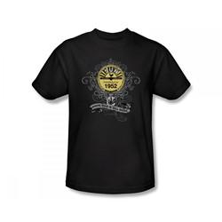 Sun Records - Rockin' Scrolls Slim Fit Adult T-Shirt In Black