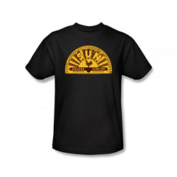 Sun Records - Traditional Logo Slim Fit Adult T-Shirt In Black