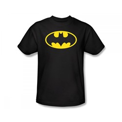 Batman - Classic Logo Adult T-Shirt In Black