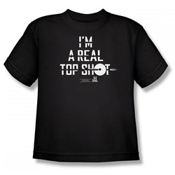 Top Shot - I'M A Top Shot Big Boys T-Shirt In Black