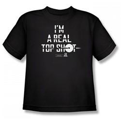 Top Shot - I'M A Top Shot Big Boys T-Shirt In Black