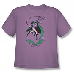 Catwoman - Kitten With A Whip Big Boys T-Shirt In Lavender