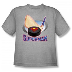 Superman - Hockey Stick Youth T-Shirt In Heather