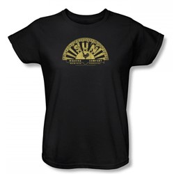 Sun Records - Tattered Logo Womens T-Shirt In Black