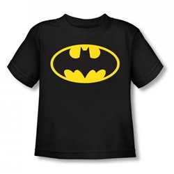 Batman - Classic Batman Logo Toddler T-Shirt In Black
