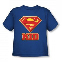 Superman - Super Kid Toddlers T-Shirt In Royal Blue