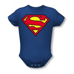Superman - Classic Logo Infant T-Shirt In Royal Blue