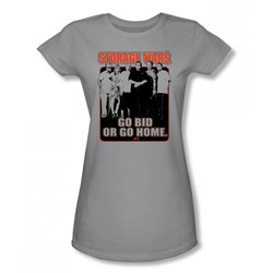 Storage Wars - The Players 2 Juniors T-Shirt In Silver