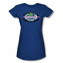 Cbs - Marquesas Juniors T-Shirt In Royal Blue