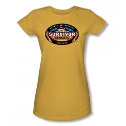 Cbs - Vanuatu Juniors T-Shirt In Gold