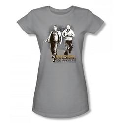 Cbs - La Running Juniors T-Shirt In Silver