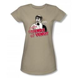Mork & Mindy - Friends Of Venus Juniors T-Shirt In Sand