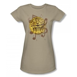 Sun Records - Logo Music Juniors T-Shirt In Safari Green