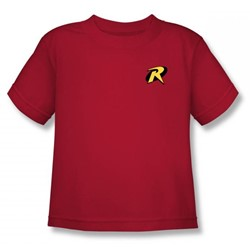 Batman - Robin Logo Juvy T-Shirt In Red