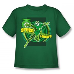 Dc Comics - Green Lantern Juvy T-Shirt In Kelly Green