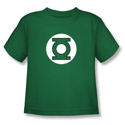 Dc Comics - Green Lantern Logo Juvy T-Shirt In Kelly Green