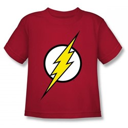 Justice League - Flash Logo Juvy T-Shirt In Red