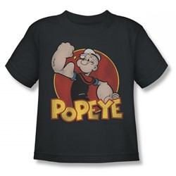 Popeye - Retro Ring Juvy T-Shirt In Charcoal