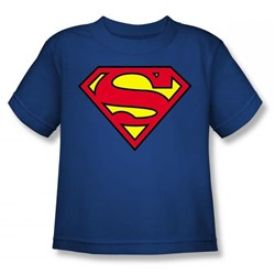 Superman - Classic Logo Juvy T-Shirt In Royal Blue