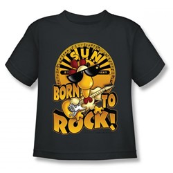 Sun Records - Born To Rock Juvee T-Shirt In Charcoal