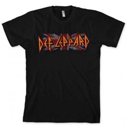 Def Leppard - Union Logo Mens T-Shirt In Black