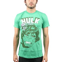 Hulk - Mens Smash 2nd Issue T-Shirt in Green